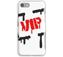 tropfen stempel aufdruck graffiti vip very importent person cool wichtig rahmen  iPhone Case/Skin