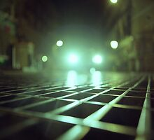 Grid city streets Hasselblad square medium format analogue film photograph by edwardolive