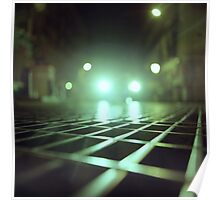 Grid city streets Hasselblad square medium format analogue film photograph Poster