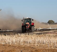 Mulching The Stubble .... by mitpjenkeating