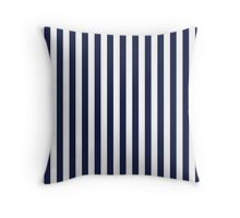Stripes Navy White Throw Pillow