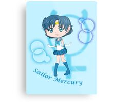 Chibi Chibi Sailor Mercury Metal Print