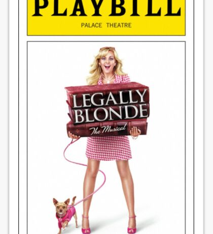 Legally Blond Playbill Sticker