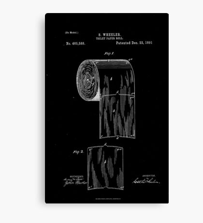 Patent - Toilet Paper (White) Canvas Print