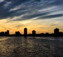 Boston Sunset - Charles River Sticker