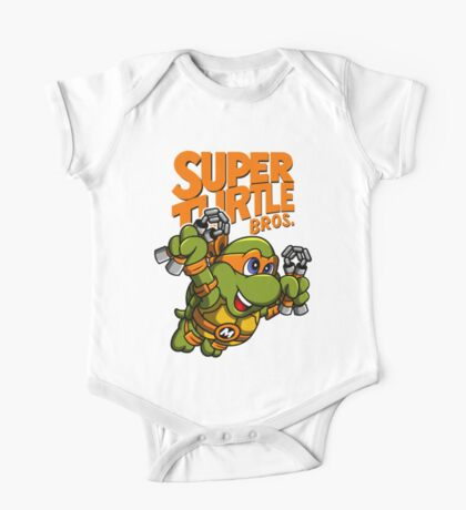 Super Turtle Bros - Mikey Kids Clothes