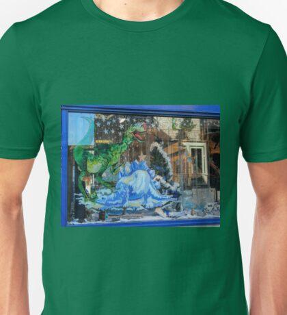 Dinosaurs in the window....Lyme Dorset UK Unisex T-Shirt