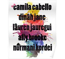 5H Names Splash! Poster
