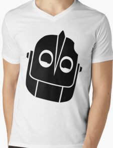 Smiling Iron Giant Vector Mens V-Neck T-Shirt