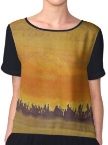 Dune Forest original painting Chiffon Top