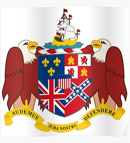 Alabama coat of arms Poster