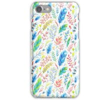Colorful Boho Watercolor Floral Pattern iPhone Case/Skin