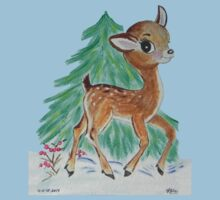 Oh Deer it's snowing Baby Tee