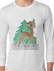 Oh Deer it's snowing Long Sleeve T-Shirt