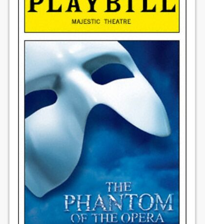Phantom of the Opera Playbill Sticker