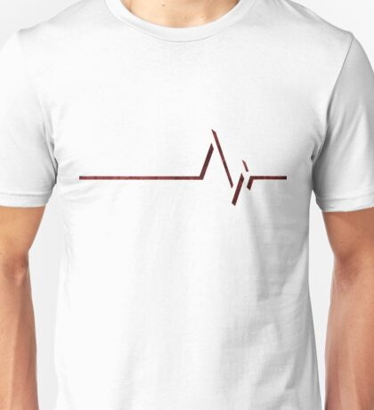 angel beats EKG heart beat Unisex T-Shirt