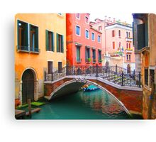 Canal of dreams Canvas Print