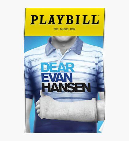 Dear Evan Hansen Playbill Poster