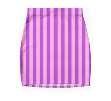 Stripes Pink Purple Mini Skirt