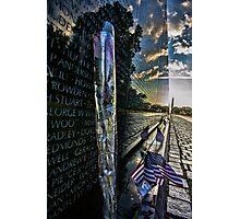 Vietnam War memorial on a sunny sunday morning  Photographic Print