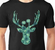 Cactus Flowers Deer Head  Unisex T-Shirt