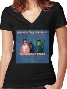 Telephone Calls Vol.1 Women's Fitted V-Neck T-Shirt