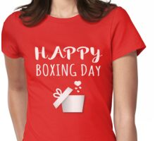 Boxing Day Christmas Holiday Traditions Womens Fitted T-Shirt