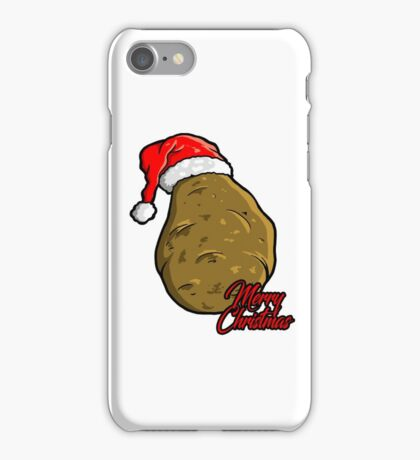 merry christmas potato  iPhone Case/Skin