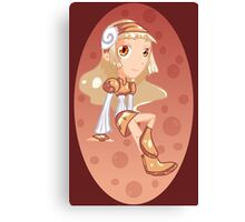 Root Beer The Soda-Pop Girl Canvas Print