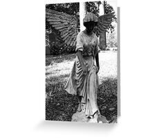 Angel Takes a Walk With Sorrow  Greeting Card
