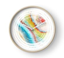 AGATE Inspired Watercolor Abstract 01 Clock