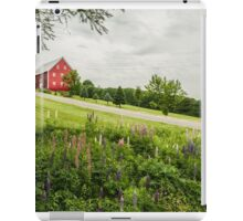 Lupins in the ditch iPad Case/Skin