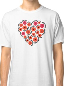 Flowers and Feathers Heart  Classic T-Shirt