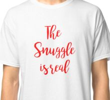 the snuggle is real | Christmas Classic T-Shirt