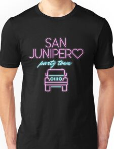 San Junipero Jeep Neon Black Mirror Unisex T-Shirt