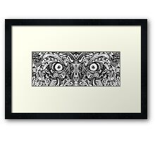 Raw Rough Mean Angry Evil Eyes Sharp Detailed Hand Drawn Framed Print