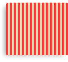 Stripes Red Beige Canvas Print