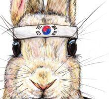 Taekwondo Bunny Sticker