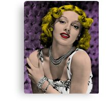 Hollywood Bombshell Lana Turner Canvas Print