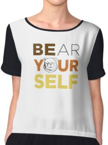 ROBUST Bear yourself colors Chiffon Top