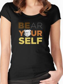 ROBUST Bear yourself colors Women's Fitted Scoop T-Shirt