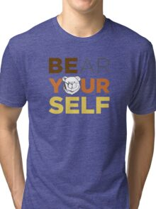 ROBUST Bear yourself colors Tri-blend T-Shirt