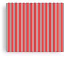 Stripes Red Grey Canvas Print