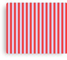 Stripes Red Light Blue Canvas Print