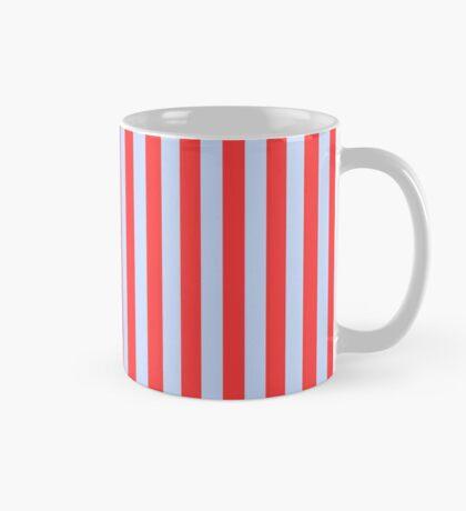 Stripes Red Light Blue Mug