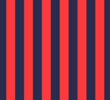 Stripes Red Navy Sticker