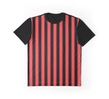 Stripes Red Black Graphic T-Shirt