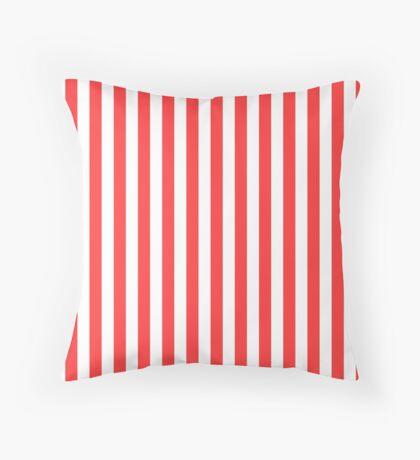 Stripes Red White Throw Pillow