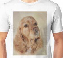 Loving Digital Painting of a Cocker Spaniel Unisex T-Shirt