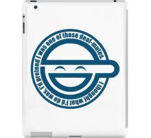 Laughing man iPad Case/Skin